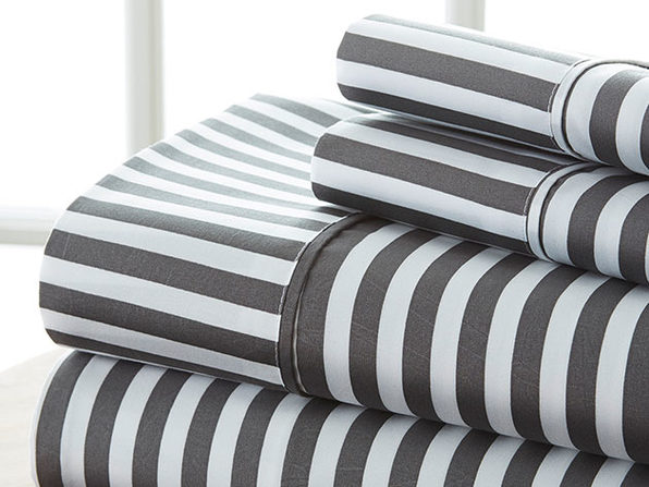4 piece Striped Sheet Set-King - Product Image