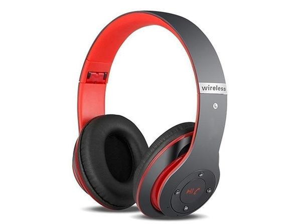 S6 Bluetooth Wireless Headphones (Red) - Product Image