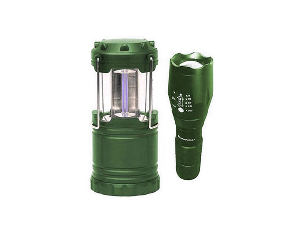 Bell + Howell Taclight Flashlight & Lantern Bundle - Green - Product Image