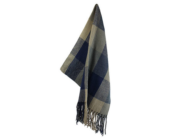 Colorama Reversible Shawl (Sky Blue & Navy)