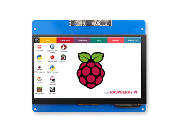 "7"" Capacitive Touch Screen with 2MP Camera for Raspberry Pi 2/3B/3B+"