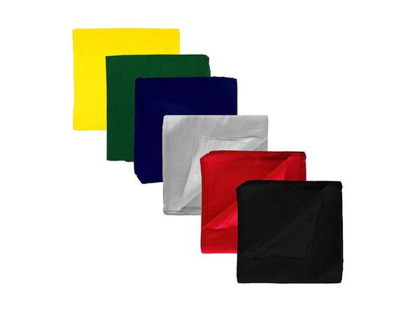 20 Pack Jordefano Unisex Solid 100% Cotton Plain Bandanas - Bulk Wholesale - Black
