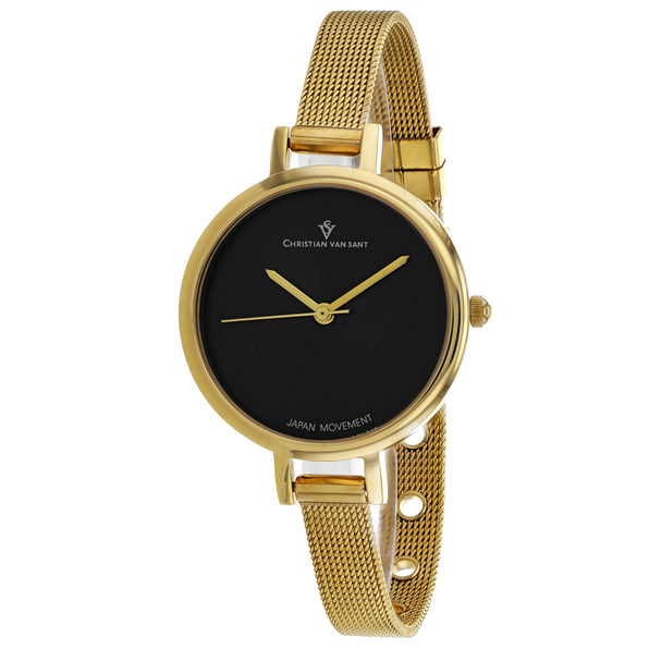 Christian Van Sant Women's Grace Black Dial Watch - CV0284