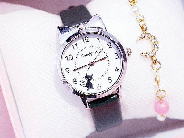 Black Cat Quartz Wristwatch - Product Image