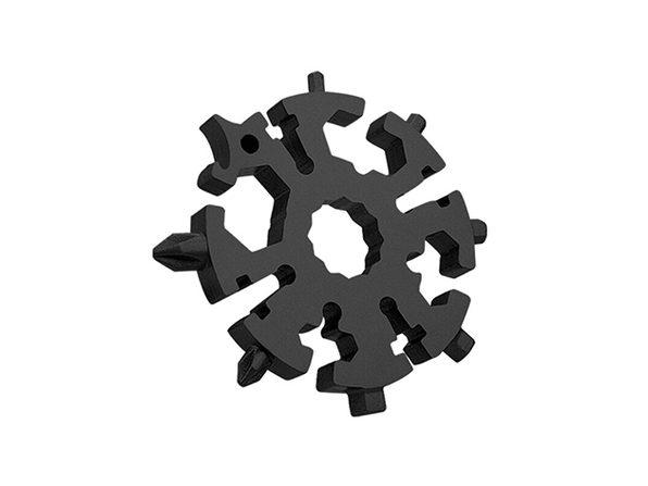 GearPride 20-in-1 Snowflake Pocket Multi-Tool (Black)