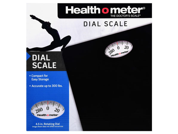 Health O Meter HAB700DQ105 Dial Personal Weight Scale, Black - Product Image