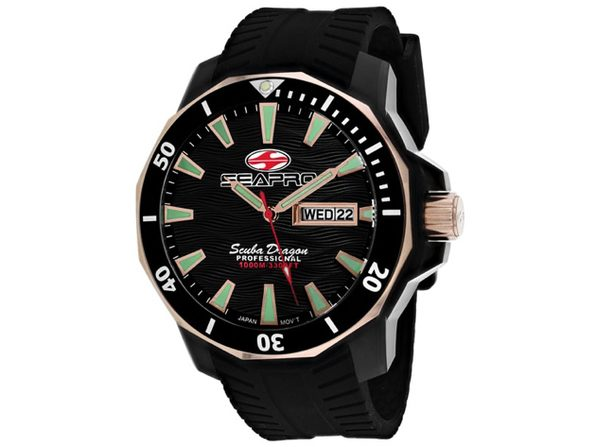 Seapro Men's Scuba Dragon Diver Limited Edition 1000 Meters Black Dial Watch SP8320 - Product Image