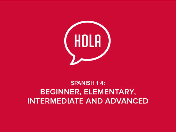 Spanish 1-4: Beginner, Elementary, Intermediate and Advanced - Product Image