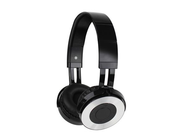 Aduro Amplify Wireless Bluetooth Stereo On-Ear Headphones with Microphone, Black/Silver (Open Box - Like New)
