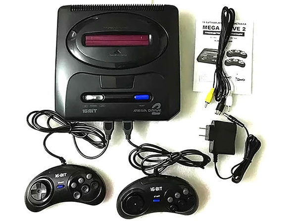 16 bit MD 2 Video Game Console With 55 games - Product Image