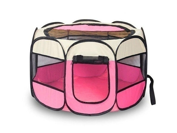 Portable Pet Tent (Pink Small) - Product Image