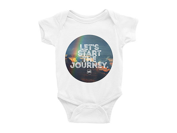 "AZ ""Let's Start The Journey"" Baby Onesie"