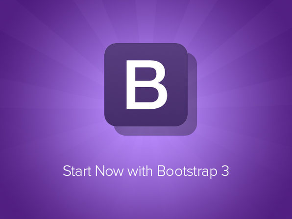 'Start Now with Bootstrap 3' Course - Product Image