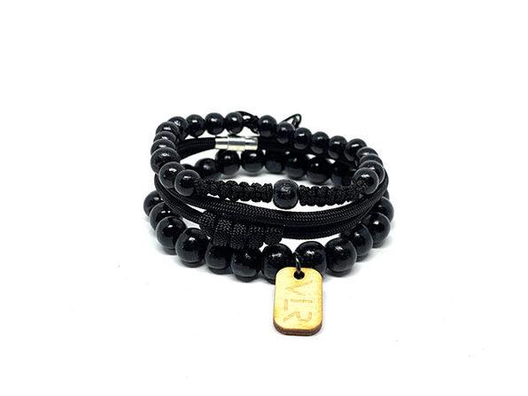 Rosary Bracelets: 3-Pack (Black)