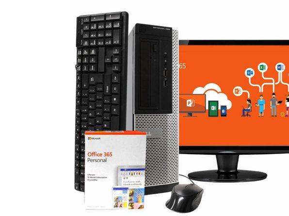 "Dell OptiPlex 390 Desktop PC, Intel i5 3.2GHz, 8GB RAM, 240GB SSD, Windows 10 Pro, Microsoft Office 365 Personal, 19"" LCD, New 16GB Flash Drive, DVD, Keyboard, Mouse, WiFi, Bluetooth (Renewed)"