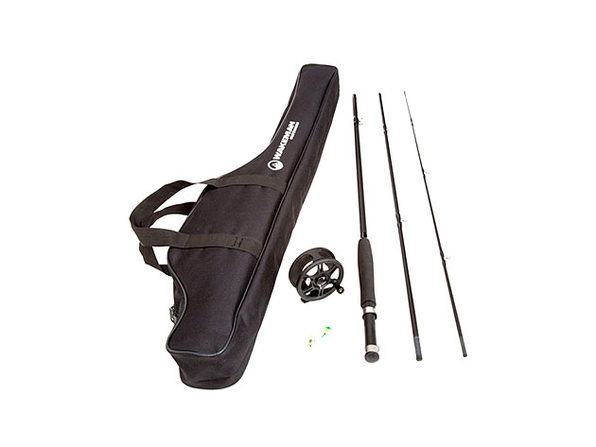 Wakeman Charter Series Fly Fishing Combo with Carry Bag - Black - Product Image
