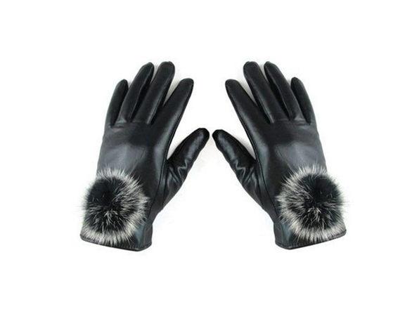 iPM Touchscreen Gloves (Women's Faux Fur & Pom-Pom)