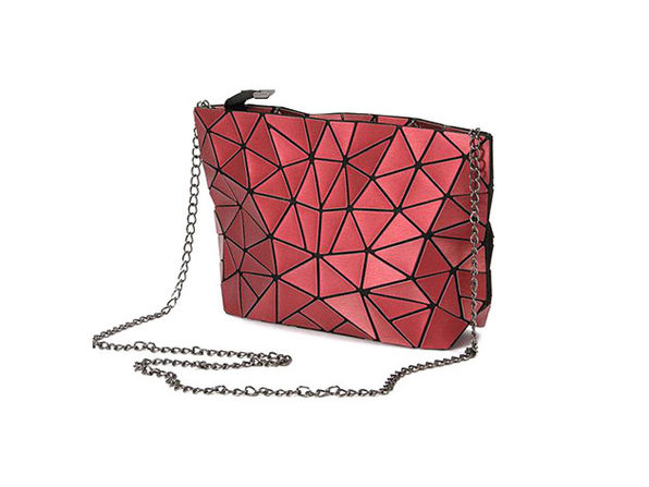 Mozaiki Cocktail Cross Body Purse- Hot Pink - Product Image