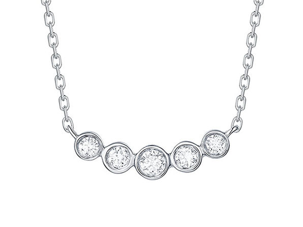 Bubbly 0.16CT Lab-Grown Diamond Pendant Necklace in 10K White Gold