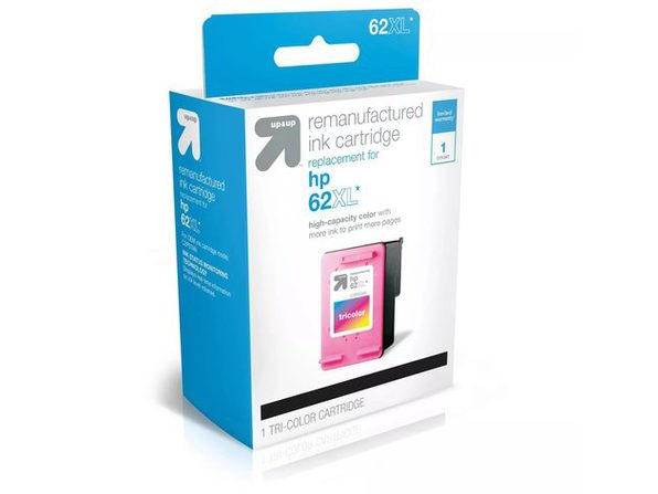 Up & Up HP 62XL Replacement Single Tri-Color Ink Cartridge, Putting Your Thoughts into Print, Cyan/Magenta/Yellow (New Open Box)