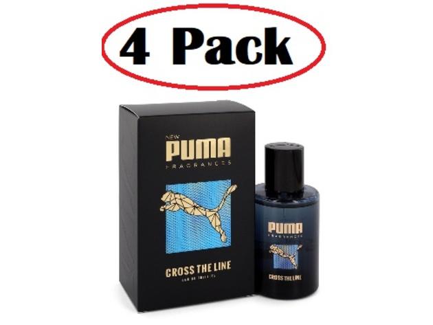 4 Pack of Puma Cross The Line by Puma Eau De Toilette Spray 1.7 oz ...
