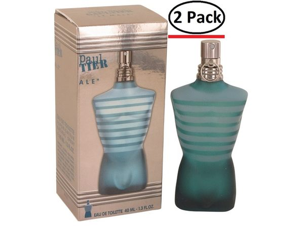 JEAN PAUL GAULTIER by Jean Paul Gaultier Eau De Toilette Spray 1.4 oz for Men (Package of 2)