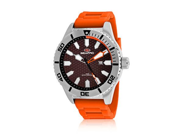 Seapro Men's Brigade Watch (Brown/Orange)