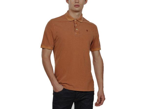 G-Star Raw Men's Halite Polo Shirt Orange Size Medium