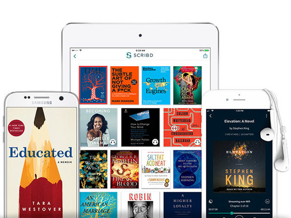 1-Year Scribd eBook/Audiobook Subscription