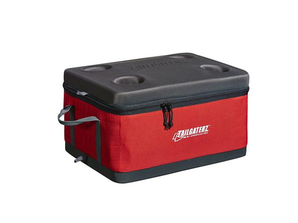 Tailgaterz 4500916 Collapsible Cooler, Red - Product Image