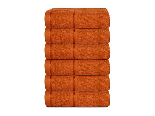 Hurbane Home 6 Piece Washcloth Set Orange - Product Image