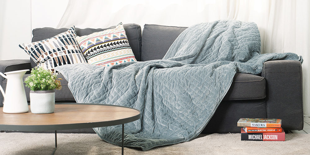 Gravis Weighted Blanket, on sale for $108.95 (58% off)