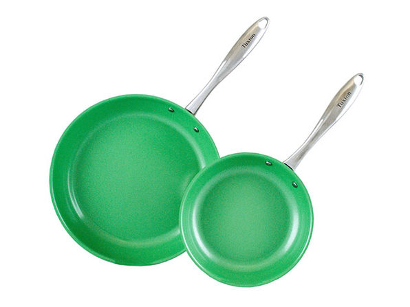 Concentrix 2-Piece Open Nonstick Frypan Set (Cilantro Green)