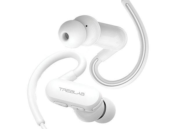 TREBLAB xRun IPX4 Bluetooth 5.0 Sports Headphones (White)