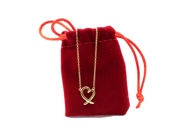 Homvare Women's 925 Sterling Silver Love Necklace - Gold