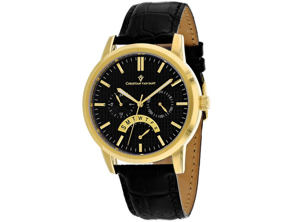 Christian Van Sant Men's Alden Black Dial Watch - CV0325