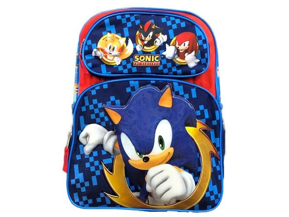 Backpack - Sonic the Hedgehog - Large 16 Inch - Blue - Punching