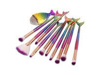 11- Piece Mermaid Brush Set- Rainbow - Product Image