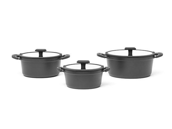 Ausker Non-Stick 3-Pot Set