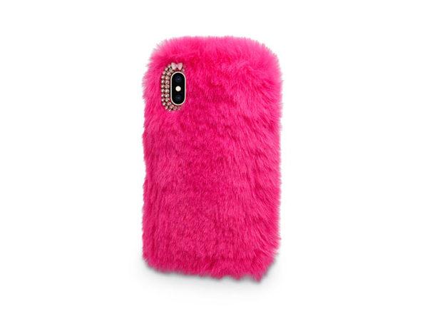 Fur Apple iPhone X Case (Hot Pink)