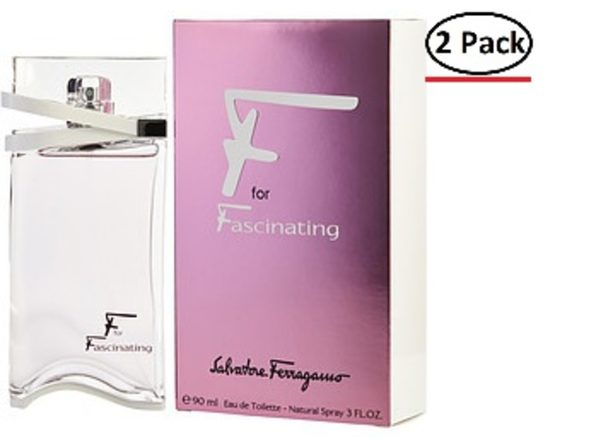 F FOR FASCINATING by Salvatore Ferragamo EDT SPRAY 3 OZ (Package Of 2) - Product Image