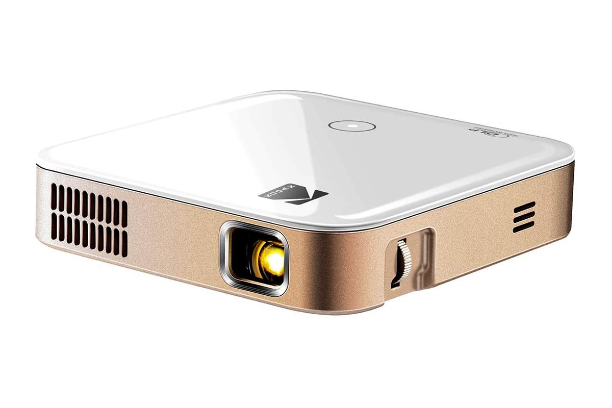 a rosegold projector