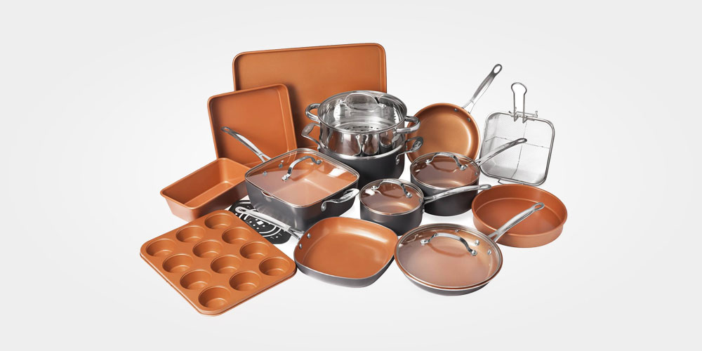 13 pots, pans, and bakeware