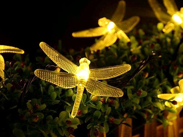 String lights shaped like fireflies