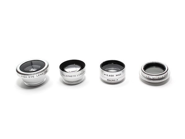 5-in-1 Clip & Snap Smartphone Camera Lenses (Silver)