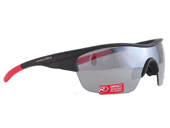 Rawlings 10211097.SPT Mens Adult Sport Sunglasses  Black/Red - Black