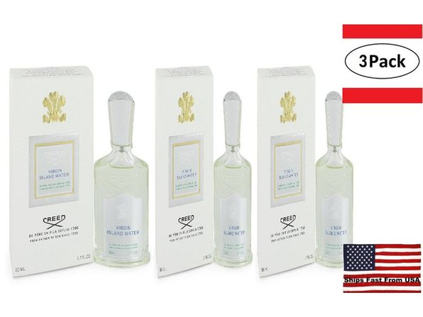 3 Pack Virgin Island Water by Creed Eau De Parfum Spray (Unisex) 1.7 oz for Women - Product Image
