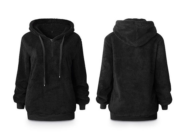 Plush Pullover Hoodie (Black)
