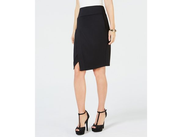 Thalia Sodi Women's Scuba Skirt Black Size Extra Large