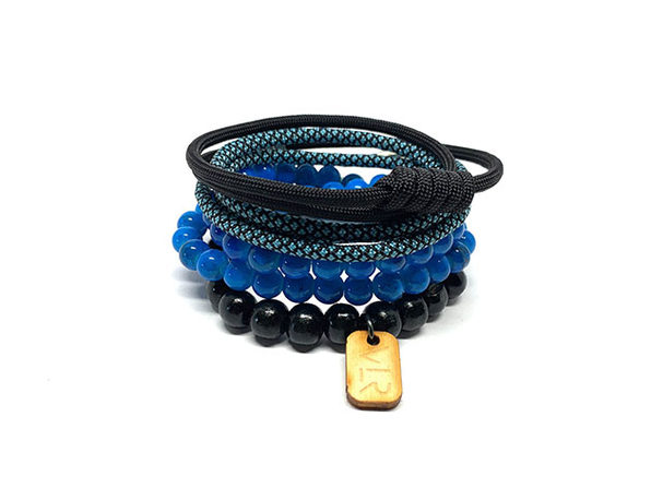 Variety 4-Pack Bracelets (Teal + Brown)
